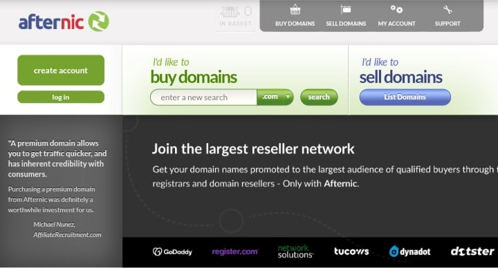 how to sell a sell a domain name with afternic godaddy