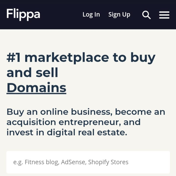 how to sell your domain on Flippa