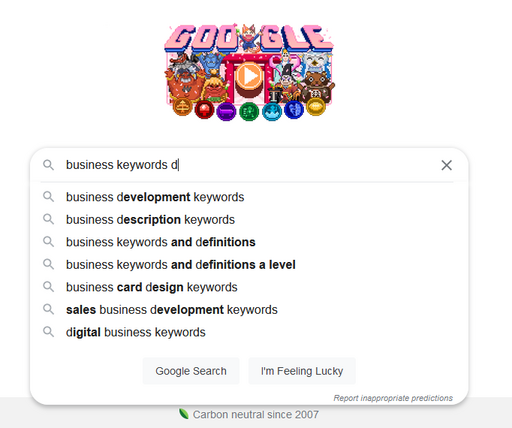 unique method of keywords research on google example